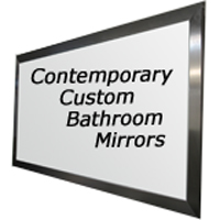 Contemporary Custom Bathroom Mirrors Made To Your Size