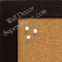 Espresso brown frame for custom cork bulletin boards made to your size