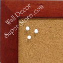Enclosed wallboards and enclosed cork bulletin boards made with a traditional cherry frame