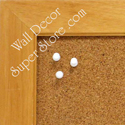 Natural color frame use to make any size enclosed cork bulletin board