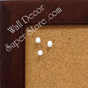 Walunt coffee brown enclosed bulletin boards made to your size