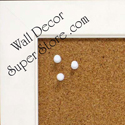 White frame for custom enclosed wallboards