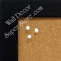 Black custom enclosed cork bulletin boards