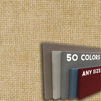FW800-19 BONE - Frameless Fabric Wrap Cork Bulletin Board - Classic Hook And Loop Velcro