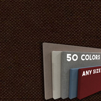 FW800-24 ESPRESSO CHOCOLATE BROWN - Frameless Fabric Wrap Cork Bulletin Board - Classic Hook And Loop Velcro