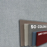 FW800-27 Eucalyptus Frameless Fabric Wrap Cork Bulletin Board - Classic Hook And Loop Velcro