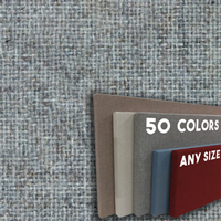 FW800-32  Soft Grey Frameless Fabric Wrap Cork Bulletin Board - Classic Hook And Loop Velcro