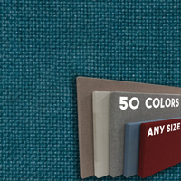 FW800-35 Chrome Green Frameless Fabric Wrap Cork Bulletin Board - Classic Hook And Loop Velcro