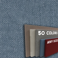 FW800-36 Lake Blue Color Frameless Fabric Wrap Cork Bulletin Board - Classic Hook And Loop Velcro