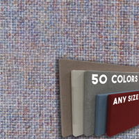 FW800-40 Soft Blend Frameless Fabric Wrap Cork Bulletin Board - Classic Hook And Loop Velcro