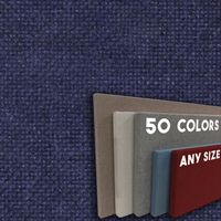 FW800-44 Blue Plum Frameless Fabric Wrap Cork Bulletin Board - Classic Hook And Loop Velcro