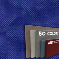 FW800-45 Cobalt Blue Frameless Fabric Wrap Cork Bulletin Board - Classic Hook And Loop Velcro