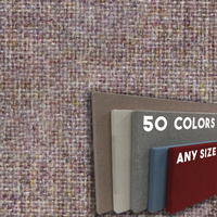 FW800-46 Soft Lavender Mix Frameless Fabric Wrap Cork Bulletin Board - Classic Hook And Loop Velcro