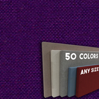 FW800-51 Iris Frameless Fabric Wrap Cork Bulletin Board - Classic Hook And Loop Velcro