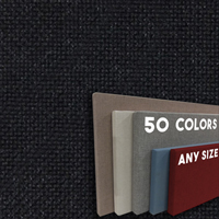 BLACK - Fabric Wrapped Cork Bulletin Boards