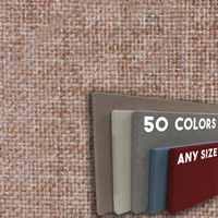 FW800-53 Soft Dark Cherry Frameless Fabric Wrap Cork Bulletin Board - Classic Hook And Loop Velcro