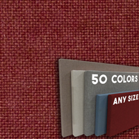 FW800-55 Rusty Bronze Frameless Fabric Wrap Cork Bulletin Board - Classic Hook And Loop Velcro