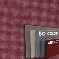 FW800-57 Dark Burgundy Frameless Fabric Wrap Cork Bulletin Board - Classic Hook And Loop Velcro