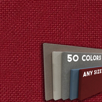 FW800-58 Claret Frameless Fabric Wrap Cork Bulletin Board - Classic Hook And Loop Velcro