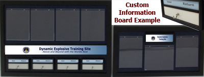 Example of finished result of a custom information wallboard