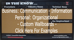 See examples of custom information and communication boards made to your deisgn
