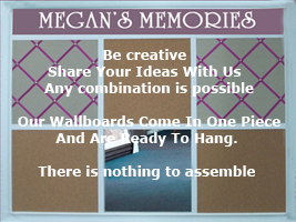 Custom informaiton wallbaords for your home - great for boys and girls rooms - any combination is possible