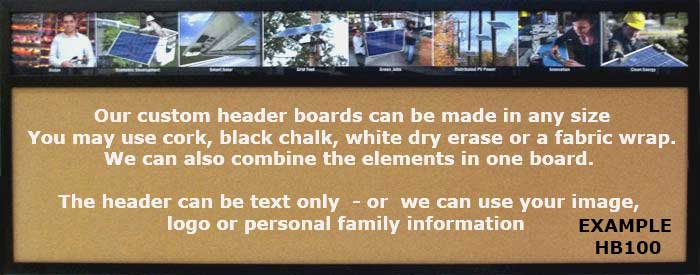 Custom Header wallboards with full color headers