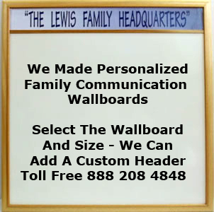 Custom family communication wallboards made in any size