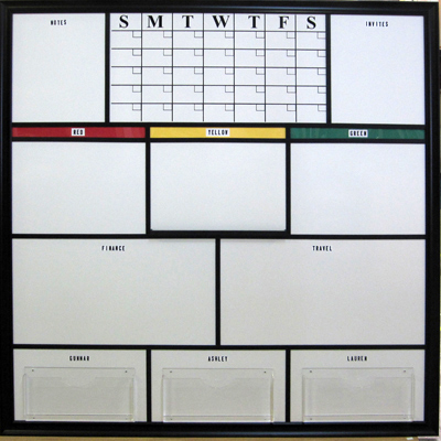 Multi panel information board with your design