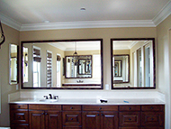 custom framed bathroom mirrors made to your size - very small and very large bathroom mirrors are ok - we can make any sizebatroom