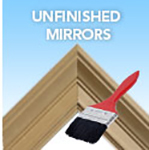 custom unfinished mirrors - stain or paint to match your decor