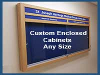 Enclosed WallBoards made to you exact size