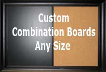 Custom combination board - mix and match cork, chalk, dry erase - any combination - any size