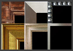 Custom chalkboards with metalic look frames - satin nickel, oil rubbed bronze, gold and more