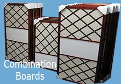 custom combination boards for health care, nursing homes, offices, school and more