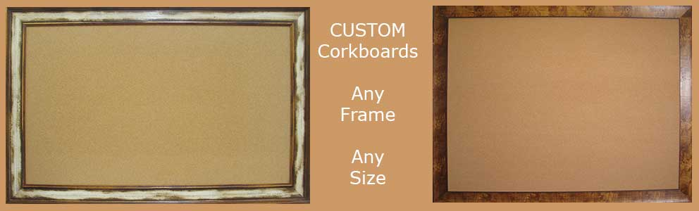 Custom corkboards made to your size - hundreds of options
