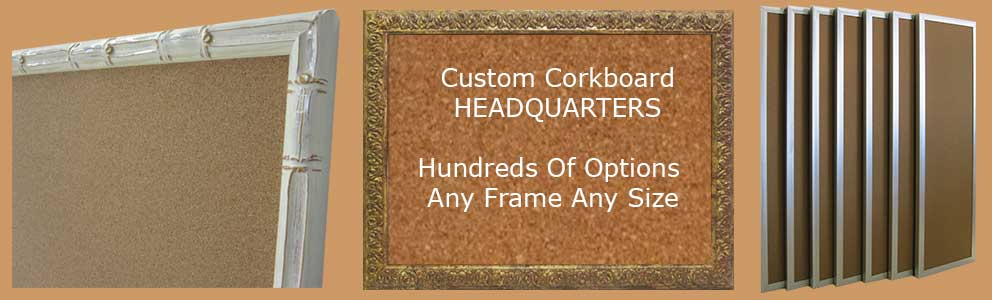 Custom cork bulletin boards