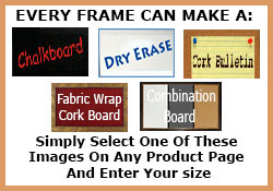 Choose from hundreds of cork board frame styles
