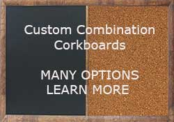custom cork boards with any combination of cork chalkboard or dry erase