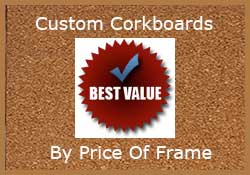 shop custom cork notice boards by price