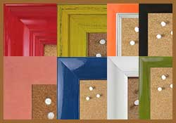Shop colorful natural self healing cork pinboard frames by the color of the frame