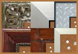 cork bulletin boards made with stylish frames styles - contemporary, tropical, decorative and more