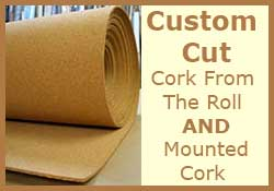 purchase natural self-healing cork bulletin board material by the square foot
