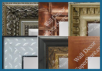 Shop custom mirrors by style - tropical, decorative, industrial, flat profile - shaker style and more
