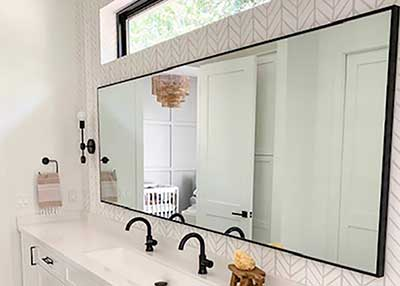 Custom bathroom mirrors - any size, color hundreds of styles