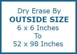 Shop Custom White Dry Erase Boards By Outside Size