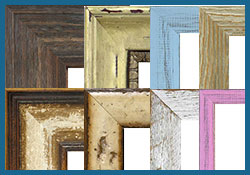 custom distressed dry erase marker board frames - barnwood, drift wood, shabby chic and more