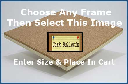 Select this cork board image on any frame product page - enter your size - and go to checkout. We use natural self healing cork on all wallboards.