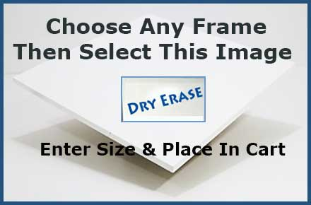 Select this white dry erase marker board image on any frame product page - enter your size - and go to checkout. You can aso upgrade to a magneticdry erase marker board