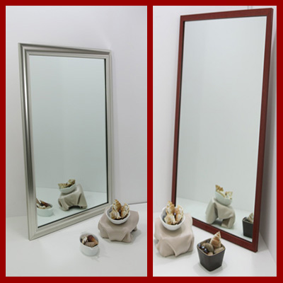 We make custom mirrors in very small hard to find sizes - find the color, style and very small size to fit your decor